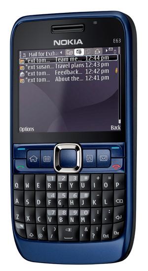 Nokia E63 Blue Nokia E63 لمحبي �...