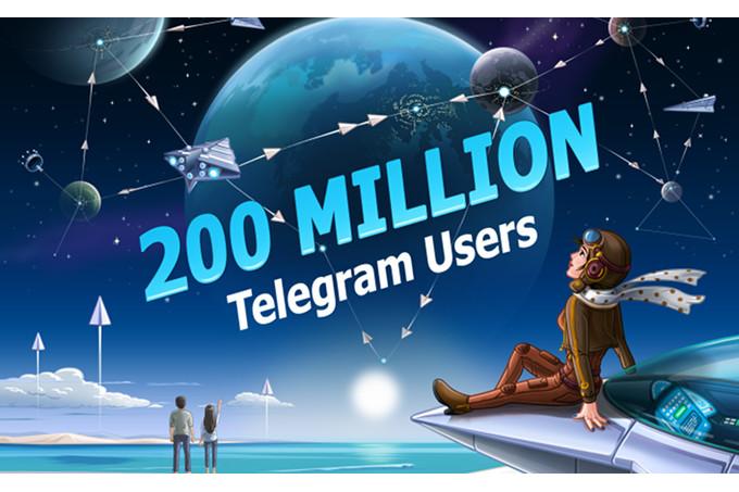 تطبيق تليجرام يمتلك الأن 200 مليون مستخدم بشكل شهري