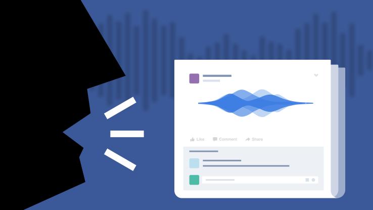 فيس بوك تختبر المنشورات الصوتيه
