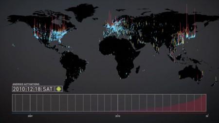 خريطة النقاط المضيئة احتفالا بأسرع