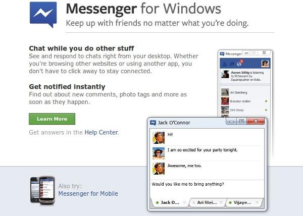 ������ �������� Facebook Messenger