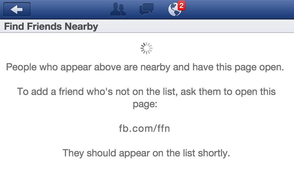 اضافة جديدة للفيس Find Friends