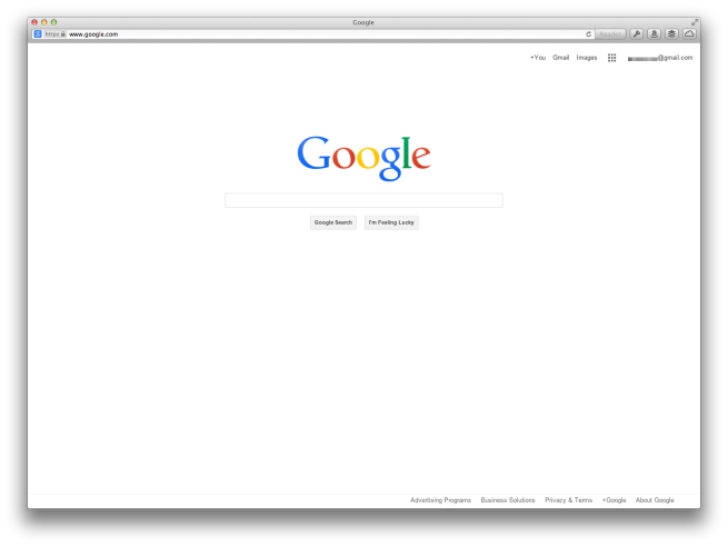 Google testing new homepage design - Google home page design ...