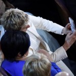 "Host DeGeneres takes a ""selfie"" photo with actress and singer Minnelli at the 86th Academy Awards in Hollywood"