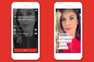 يوتيوب تضيف ميزة البث المباشر الى تطبيق الهواتف الذكية