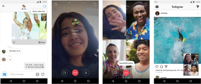 انستجرام تحدث التطبيق باضافة مكالمات الفيديو شات 1