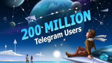 Photo of تطبيق تليجرام يمتلك الأن 200 مليون مستخدم بشكل شهري