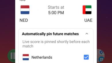 Photo of تطبيق جوجل سيسمح لك بتثبيت النتائج اللحظية لمباريات فريقك المستقبلية على الشاشة