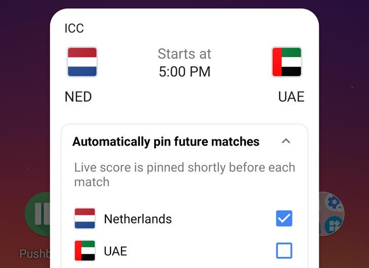 تطبيق جوجل سيسمح لك بتثبيت النتائج اللحظية لمباريات فريقك المستقبلية على الشاشة
