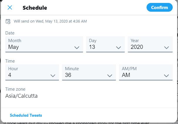 جدولة التغريدات قادمه لمنصة تويتر 1
