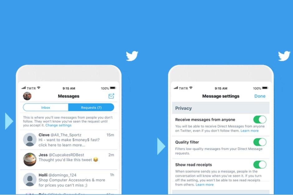 تويتر تضيف فلتر جديد للرسائل الخاصه