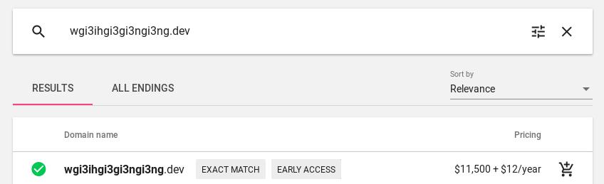 جوجل تفتح التسجيل اليوم لشراء دومينات دوت (dev) بسعر 11200 دولار ! 1