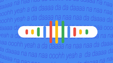 صورة جوجل ستحول (همهمتك) الى استعلام عن أغنية