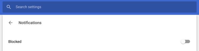 شرح طريقة منع ظهور اخطارات المواقع على جوجل كروم 2
