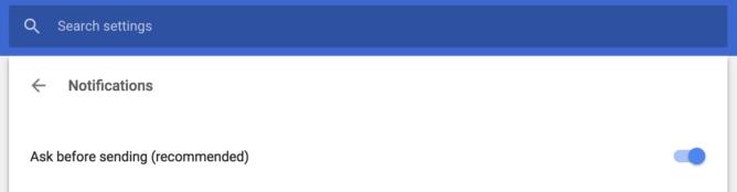 شرح طريقة منع ظهور اخطارات المواقع على جوجل كروم 1