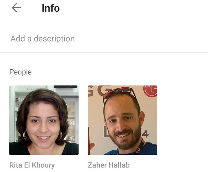 Photo of تطبيق صور جوجل يتعرف على الوجوة الموجودة في الصور ويعرض لك اسماءها