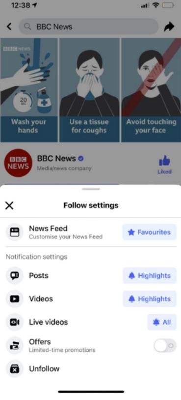 فيس بوك ستمنحك تحكم أكثر في محتوى الصفحات التي تتابعها 1