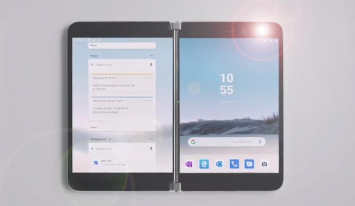 Surface Duo : أول فيديو لهاتف مايكروسوفت القابل للطي 1