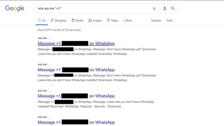 واتس اب تعالج ثغرة ظهور ارقام الهواتف في محرك جوجل 1