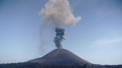 Photo of فيديو انفجار بركان Anak Krakatau في اندونيسيا