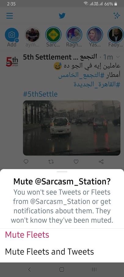 كيف يمكنك كتم أي Fleet على تويتر 1