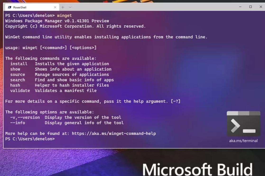 مايكروسوفت تطلق Package Manager لتثبيت التطبيقات بكتابة امر برمجي