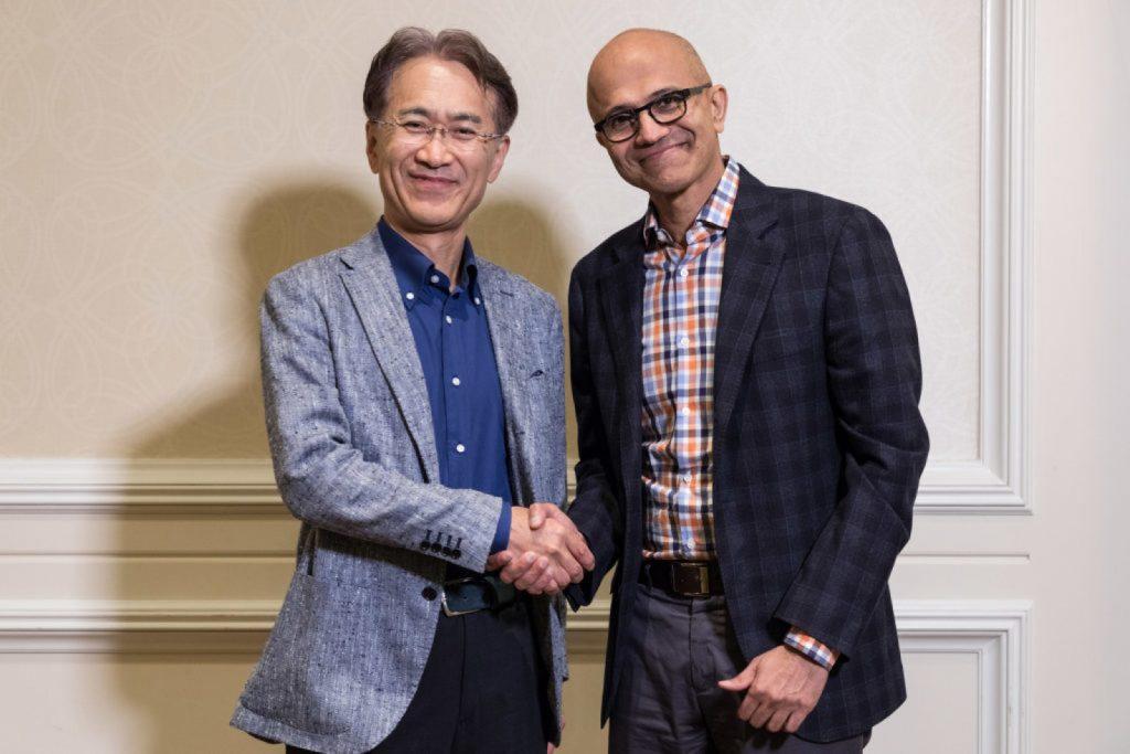مايكروسوفت وسوني يعلنان التعاون في مجال الحوسبة السحابية