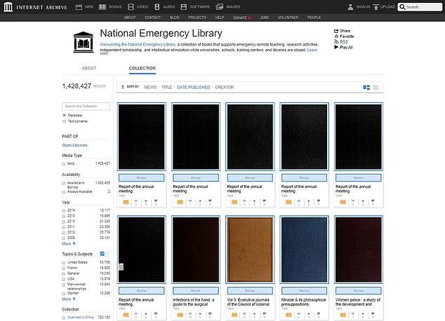 Internet Archive يتيح 1.4 مليون كتاب رقمي مجانا للقراءة 1