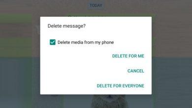 صورة ميزة (الغاء الرسالة من الكل) لتطبيق واتس آب تتعرض لانتكاسه على هواتف الايفون