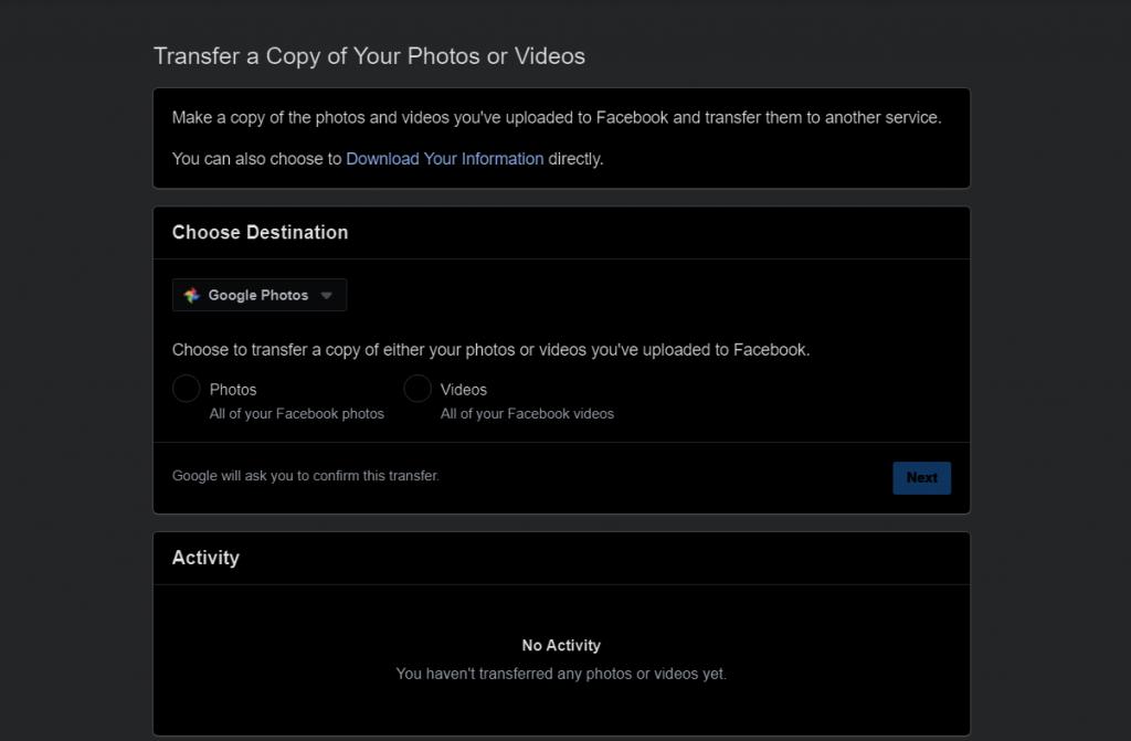 كيف تنقل صور الفيس بوك الخاصة بك الى حسابك على Google Photos ...