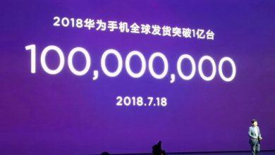 Photo of هواوي تعلن عن شحن 100 مليون هاتف ذكي في أول 6 شهور من 2018