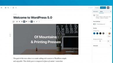 صورة ووردبريس تطلق الاصدار 5.0 بمحرر جديد كلياً