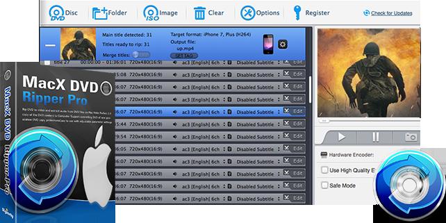 مراجعة برنامج MacX DVD Ripper Pro 1