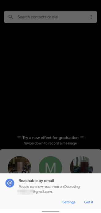 Google Duo يتيح الوصول الى المستخدم من خلال بريده الالكتروني 1