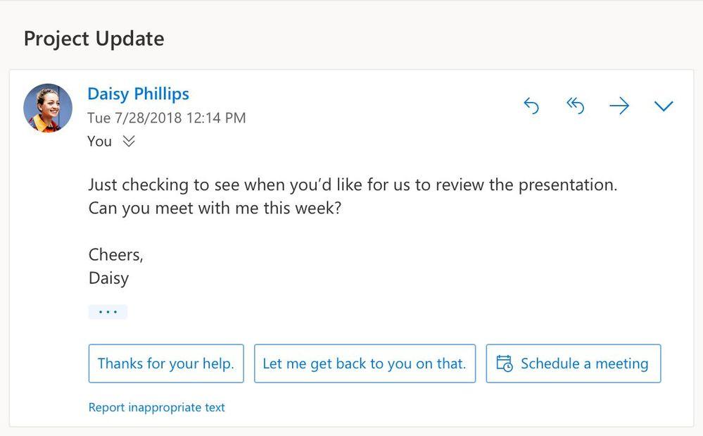 مايكروسوفت تضيف مزايا ذكية لبريد اوت لوك على الويب 1