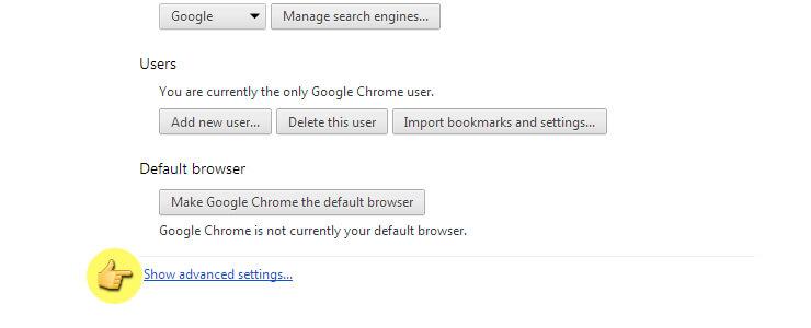 كيف تحذف ملفات الكوكيز من متصفح جوجل كروم 14