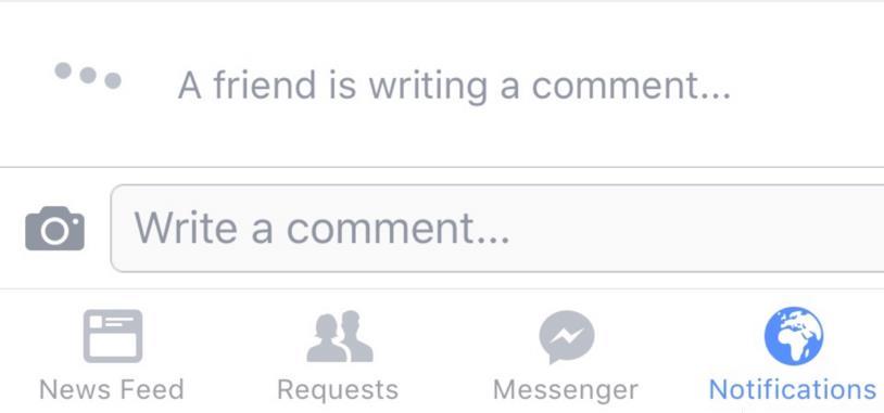صورة فيس بوك يختبر اخطارك عندما يهم صديق بكتابة تعليق
