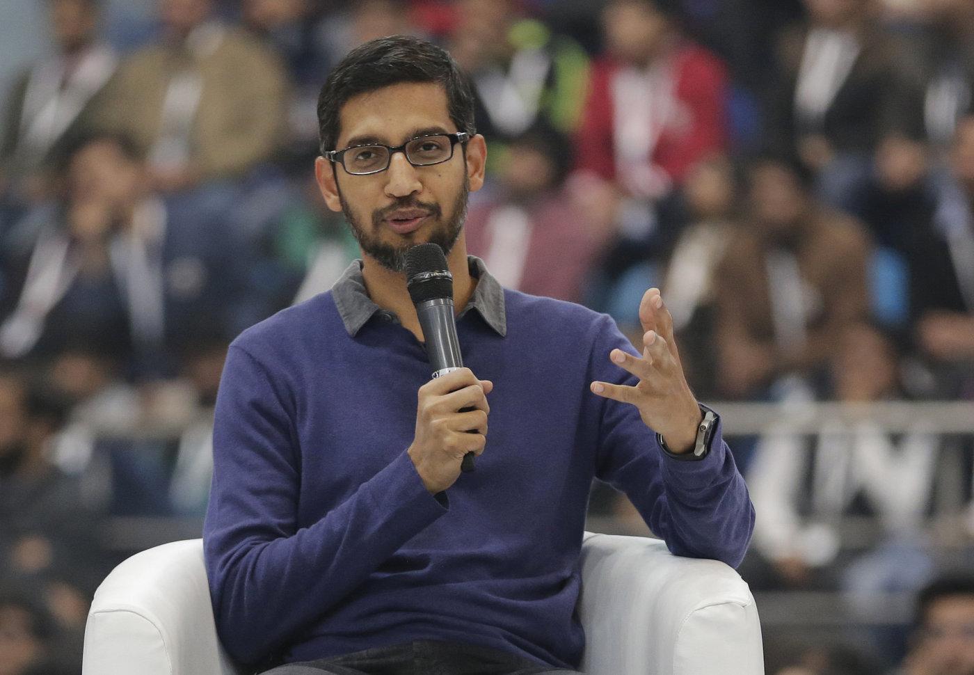 صورة الرئيس التنفيذي لشركة جوجل الأعلى أجرا في الولايات المتحدة