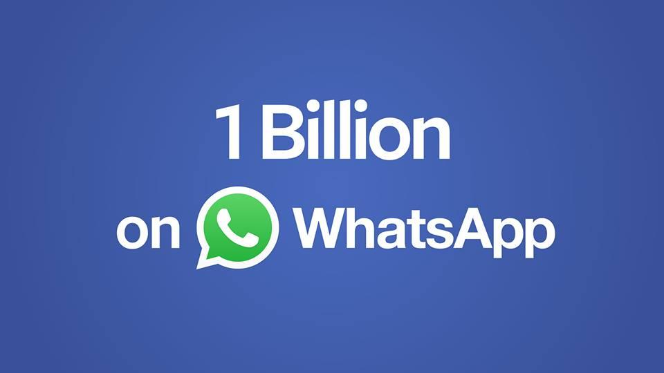 Photo of مليار مستخدم شهري لتطبيق واتس اب