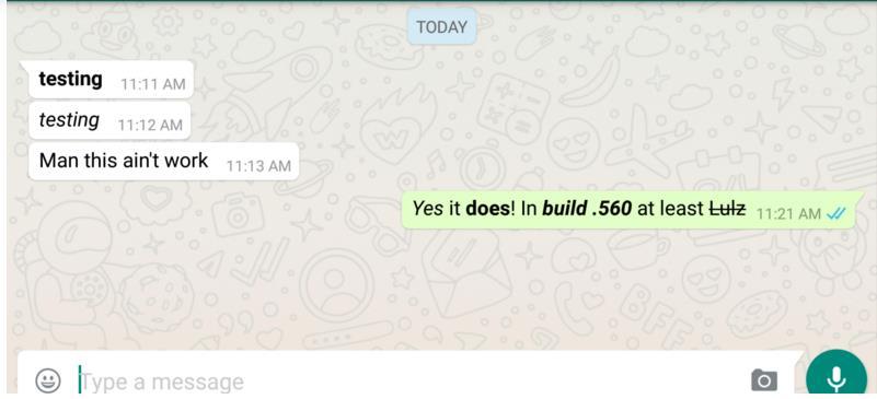 Photo of تطبيق WhatsApp يضيف ميزة تنسيق الخطوط