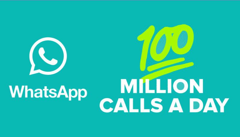 Photo of 100 مليون مكالمة صوتية عبر تطبيق WhatsApp يومياً