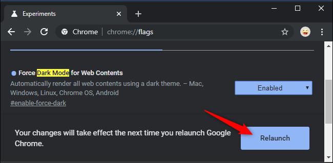 كيف تجبر كل المواقع التي تزورها على استخدام المود الليلي في جوجل كروم 3