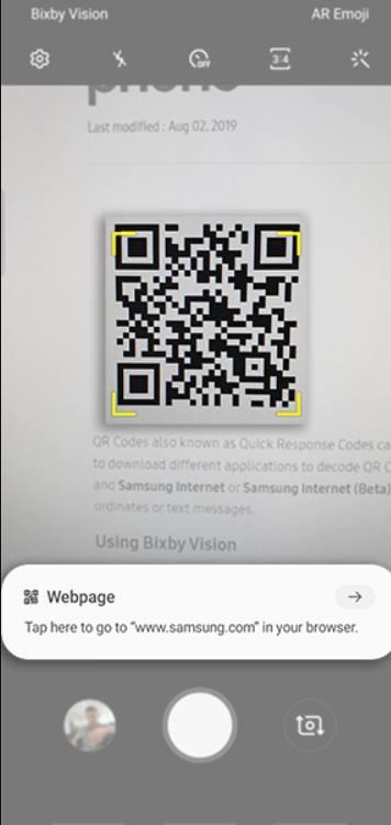 كيف تمسح QR Code في هواتف سامسونج عبر تطبيق الكاميرا 3