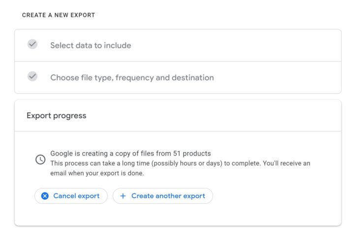 Google Takeout:  كيف تحصل على نسخة من كل بياناتك في جوجل بأسهل طريقة 2