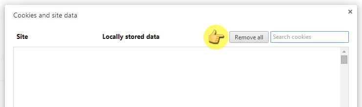كيف تحذف ملفات الكوكيز من متصفح جوجل كروم 17