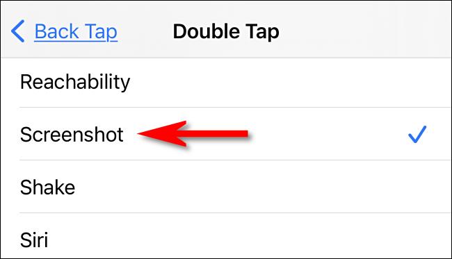 كيف تأخذ لقطة شاشة عن طريق النقر على الجزء الخلفي من جهاز الايفون 6