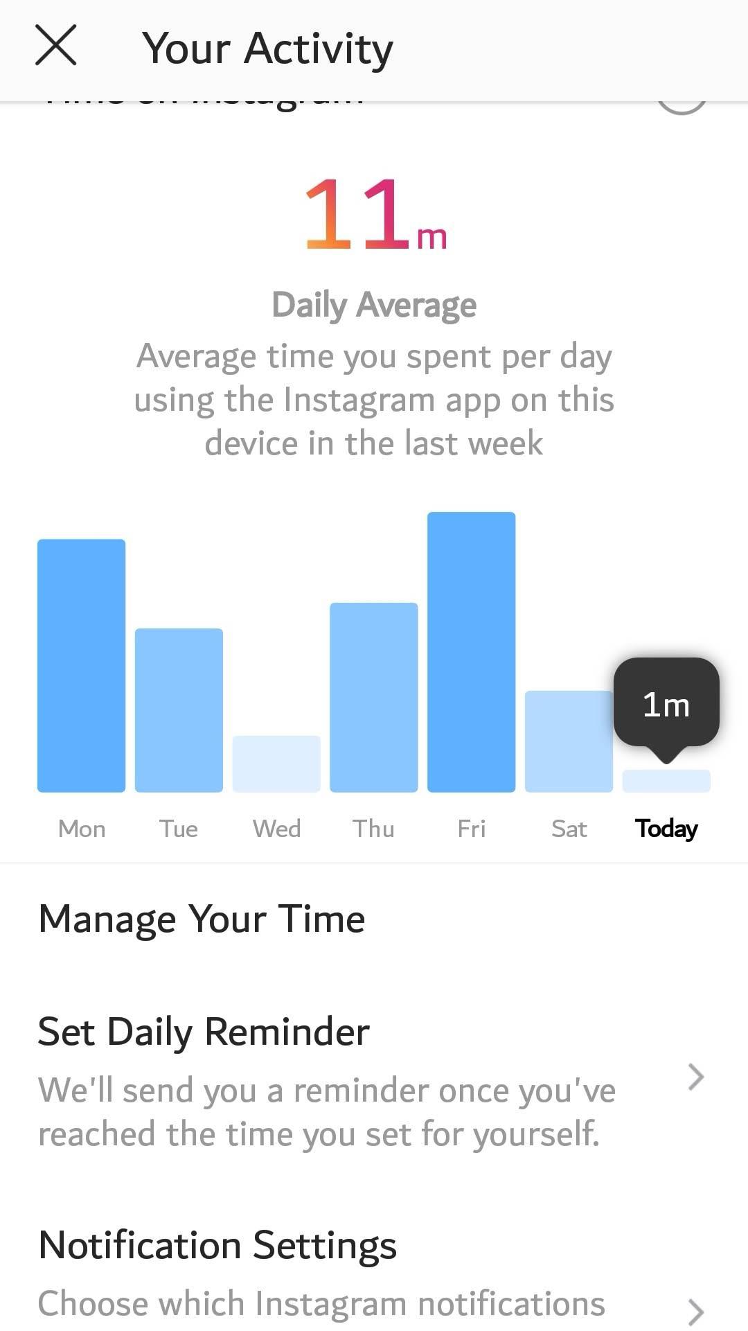 كيف تضع تنبيه على تطبيقي فيس بوك وانستجرام لتجنب البقاء طويلاً عليهما 2