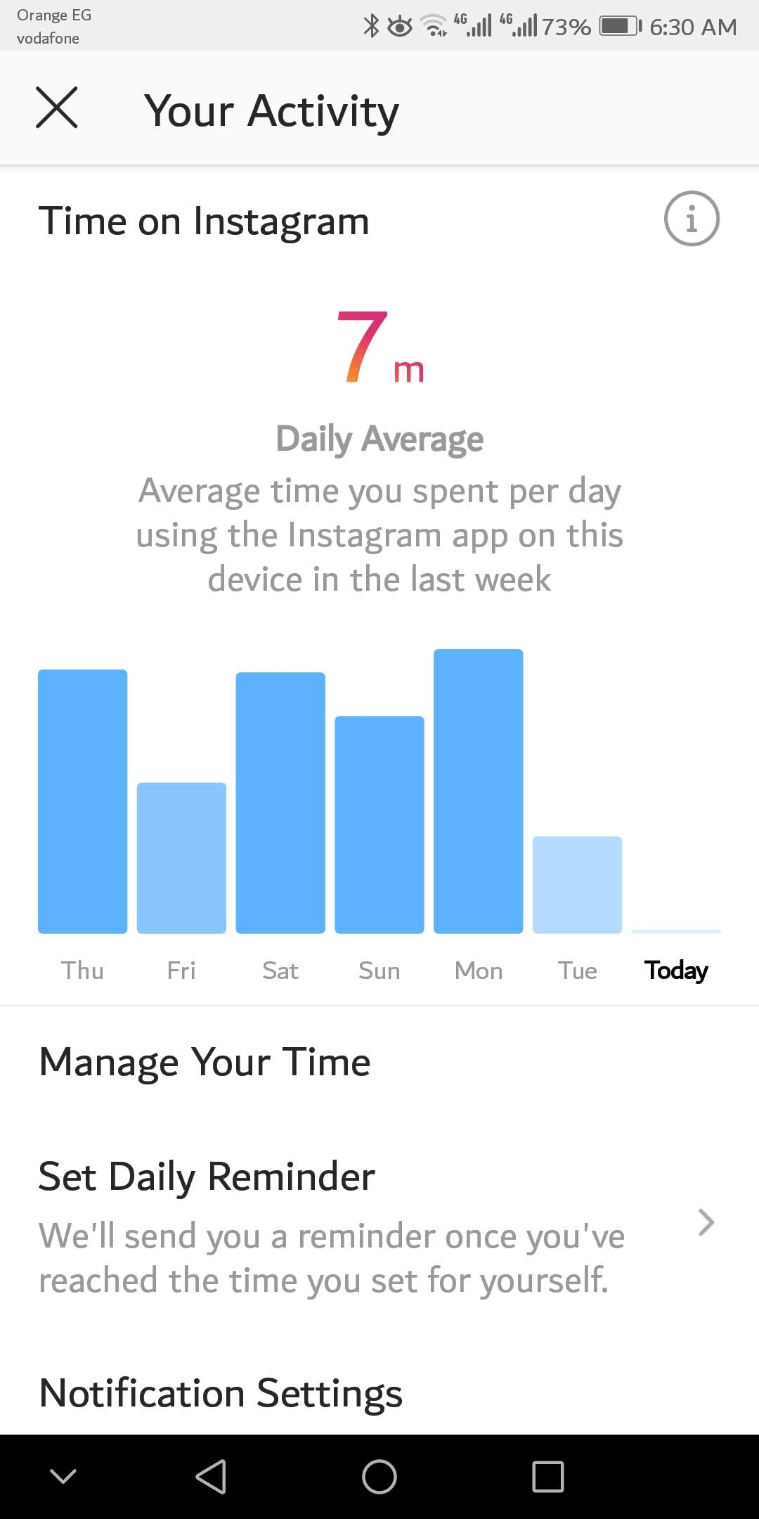 كيف تتعرف على تفاصيل تواجدك الزمني على تطبيق انستجرام 1