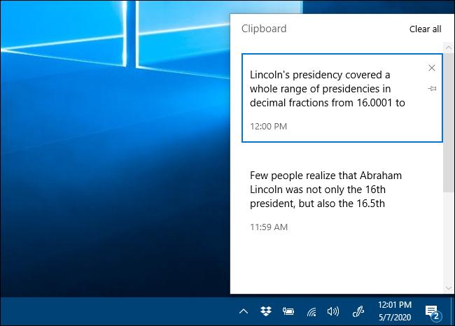 Clipboard history : كيف يمكنك تفعيلها في ويندوز 10 3