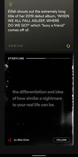 تطبيق سبوتيفاي يضيف ميزة القصص 1